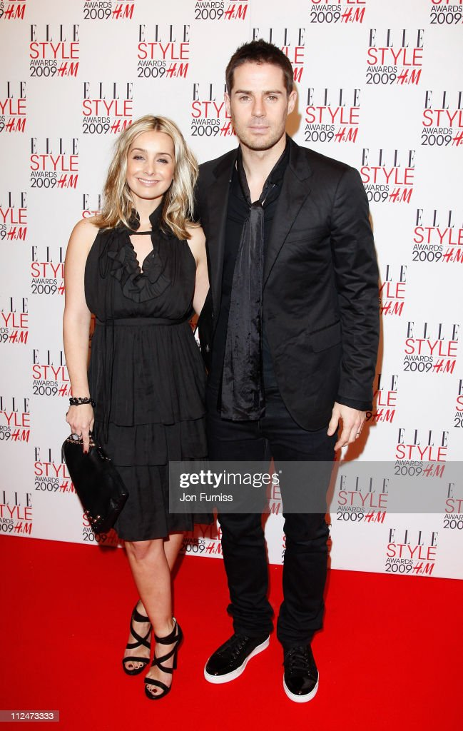 Louise and Jamie Redknapp attends the ELLE Style Awards 2009 held at Big Sky London Studios on February 9 2009 in London England
