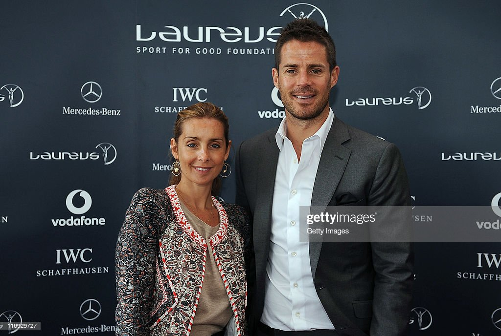 Louise and Jamie Redknapp pose for the camera during the Laureus Polo Cup on June 18 2011 in London England