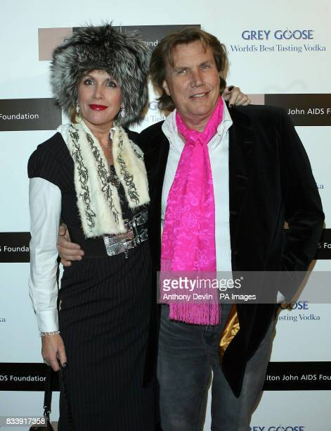 Louise and Theo Fennell arrive at the Grey Goose Vodka and The Elton John AIDS Foundation VIP launch party One Piazza Covent Garden London