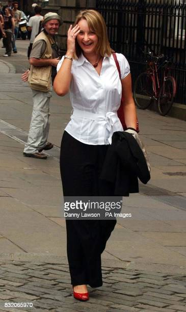 Louise Baillie outside The Court of Session in Edinburgh after giving evidence in the former Scottish Socialist Party leader Tommy Sheridan...