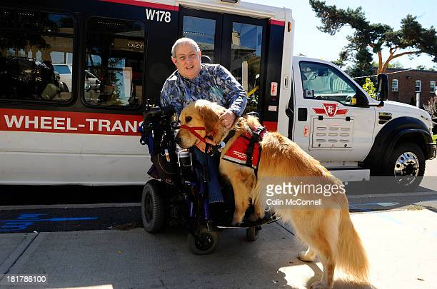 Louise Bark and her service dog Bruce a Golden Retriever were denied service at a Pizzaiolo in North York last week Toronto September 24 2013