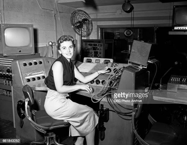 Louise Becker winning contestant of the 'I've Got A Secret' quiz show poses for a photo while seated in the CBS Television Studio 59 television...