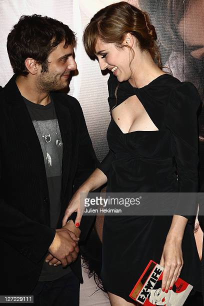 Louise Bourgoin and Pio Marmai attend 'Un Heureux Evenement' Paris premiere at UGC Cine Cite Bercy on September 26 2011 in Paris France