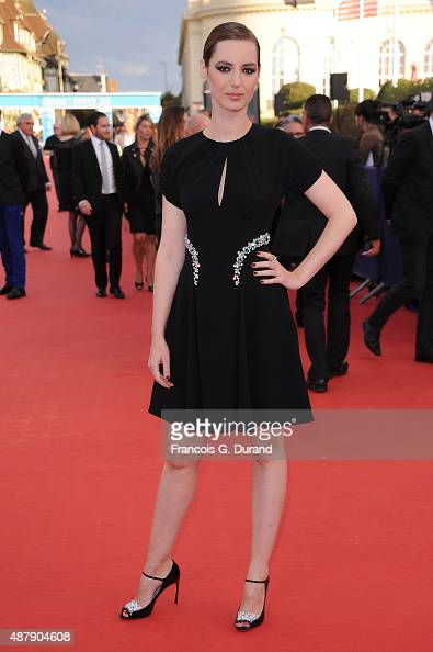 Louise Bourgoin arrives at the Closing Ceremony and 'Sicario'Premiere during the 41st Deauville American Film Festival on September 12 2015 in...