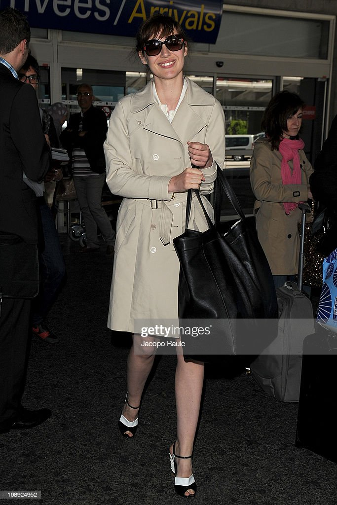 Louise Bourgoin is seen arriving at Nice airport during The 66th Annual Cannes Film Festival on May 17, 2013 in Nice, France.