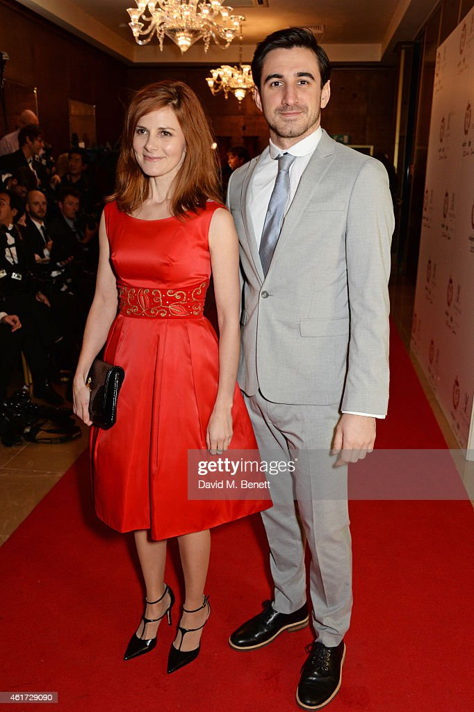 Louise Brealey and Ferdinand Kingsley attend The London Critics' Circle Film Awards at The Mayfair Hotel on January 18 2015 in London England