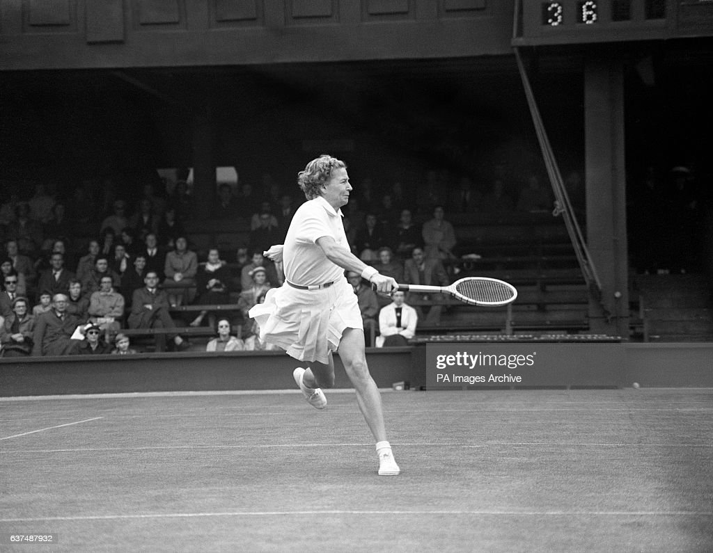 Tennis 1956 Wightman Cup Round 3 Angela Buxton v Louise