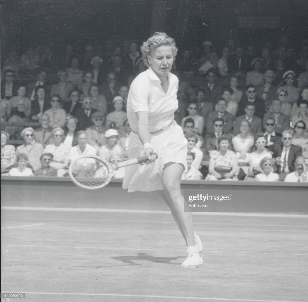 Louis Brough Swinging Tennis Racquet