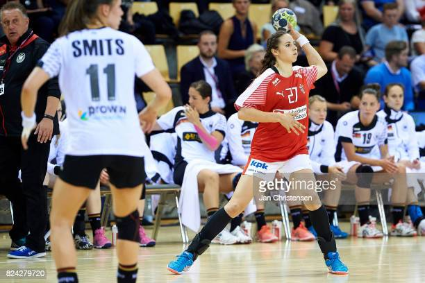 Louise Burgaard of Denmark in action during the international friendly match between Denmark and Germany at Ceres Arena on June 08 2017 in Arhus...