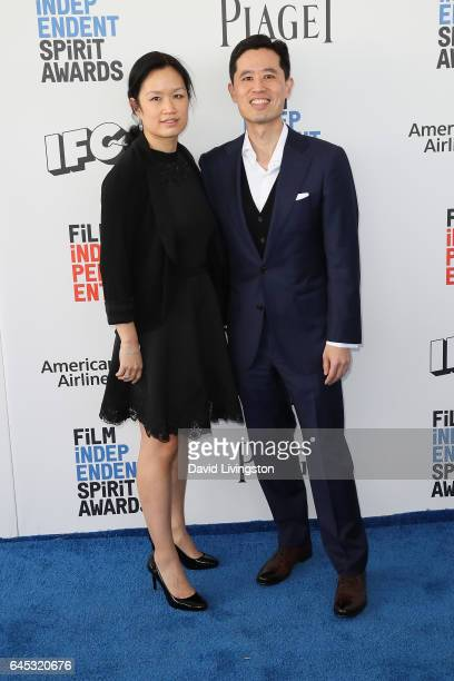 Louise Chen and Colin Chen of Piaget attends the 2017 Film Independent Spirit Awards on February 25 2017 in Santa Monica California