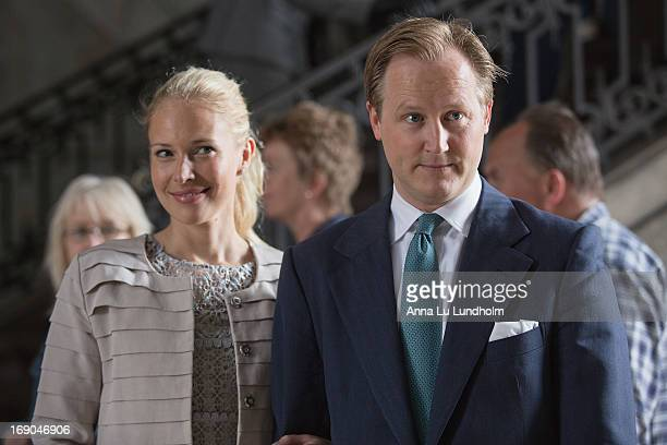 Louise Cronstedt and Jacob Cronstedt visit the wedding preparations for HKH Princess Madeleine and Mr Christopher O'Niell on May 19 2013 in Stockholm...