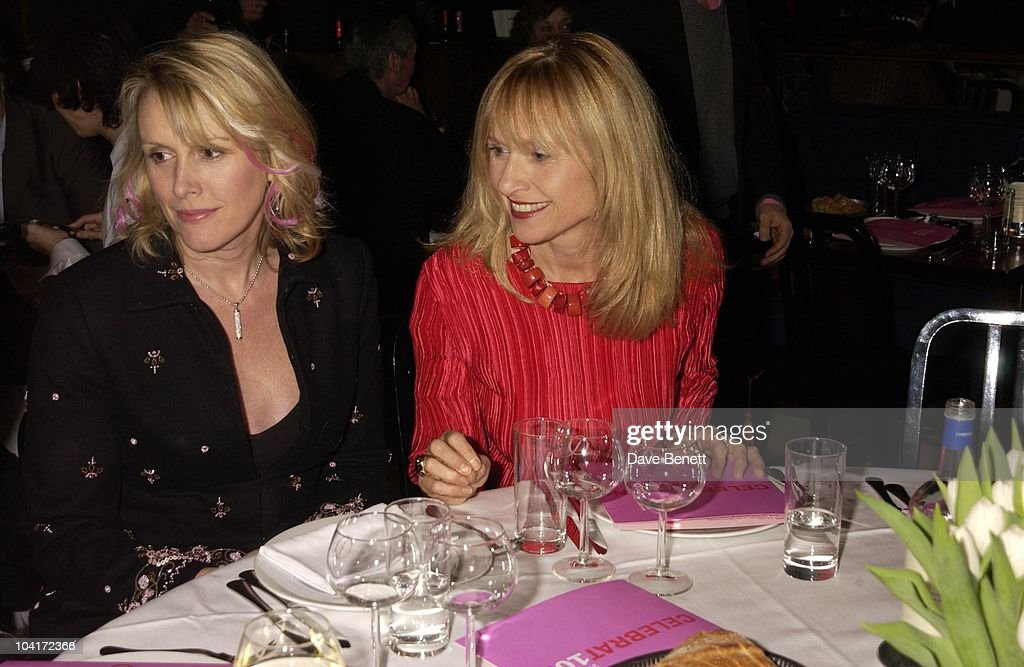 Louise Fennel And Liz Spender, Sir Elton John And Sir Terrance Conran Celebrated Ten Years Of Quaglinos Restaurant And Ten Years Of The Elton John Aids Foundation, At Quaglinos Restaurant, London