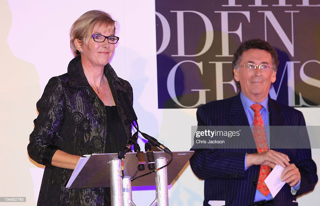Louise Garczewska of Getty Images Gallery talks on stage as she attends Hidden Gems Photography Gala Auction in support of Variety Club at St Pancras Renaissance Hotel on November 30, 2011 in London, England.