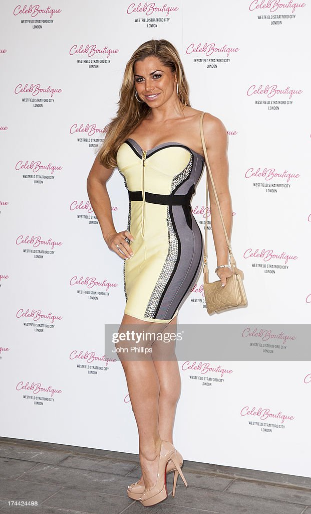 Louise Glover attends the store launch party at CelebBoutique, Westfield Stratford City on July 25, 2013 in London, England.