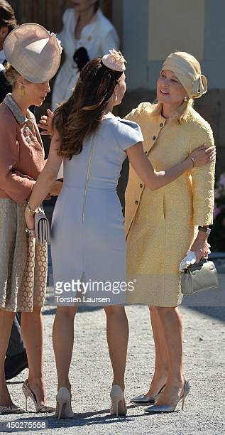Louise Gottlieb and Eva Maria Walter attend the Royal Christening of Princess Leonore at Drottningholm Palace Chapel on June 8 2014 in Stockholm...