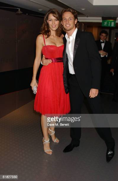 Louise Griffiths and Jenson Button attend the Autosport Awards 2004 at the Grosvenor House Hotel on December 5 2004 in London