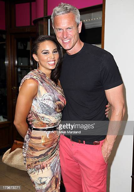 Louise Hazel and Mark Foster attends Omega's Summer Cocktail party on July 16 2013 in London England