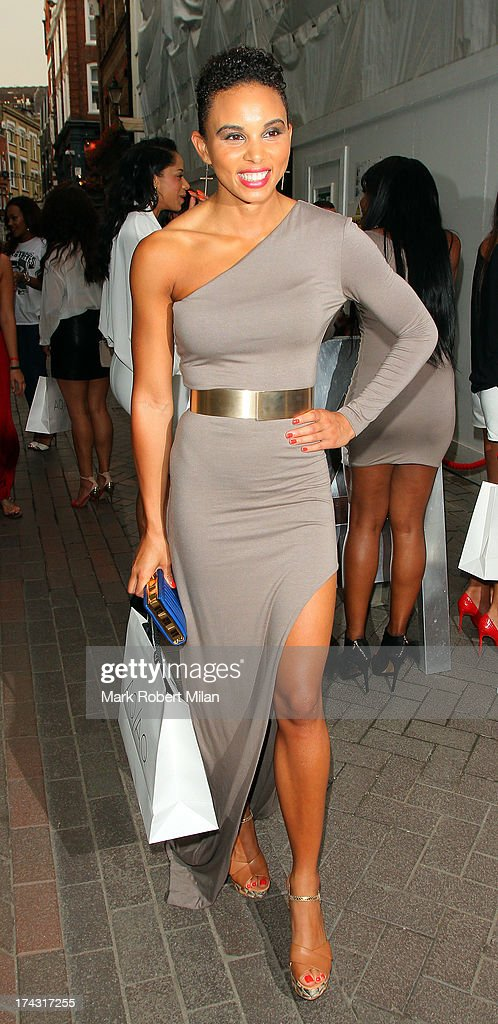 Louise Hazel attending the AQAQ launch party on July 23, 2013 in London, England.