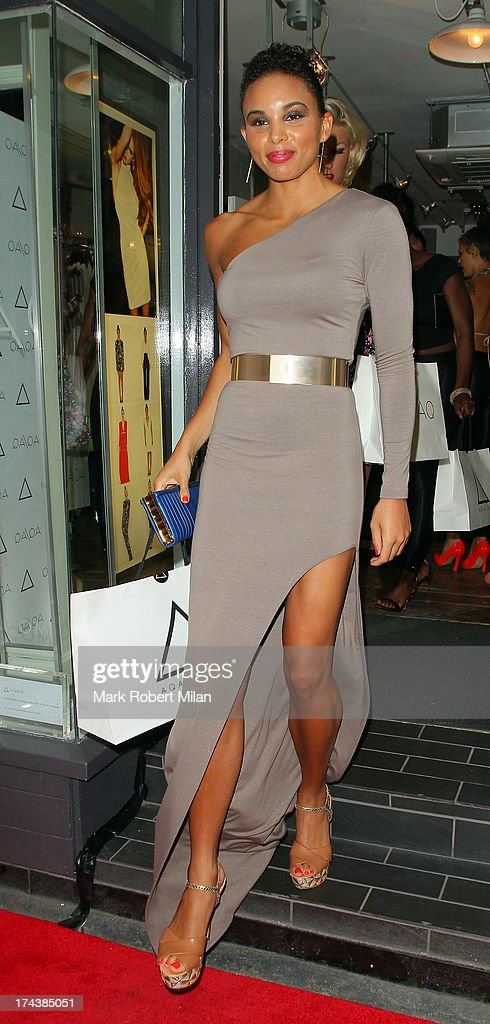 Louise Hazel attends the AQAQ launch party on July 23, 2013 in London, England.