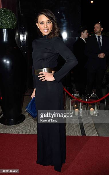 Louise Hazel attends the British Heart Foundation's Roll Out The Red Ball at Park Lane Hotel on February 10 2015 in London England