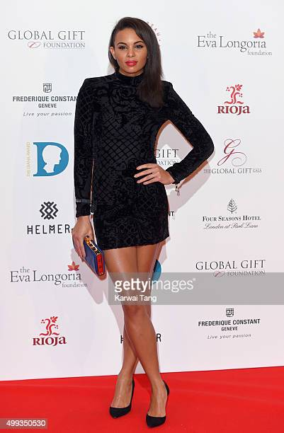 Louise Hazel attends The Global Gift Gala at Four Seasons Hotel on November 30 2015 in London England