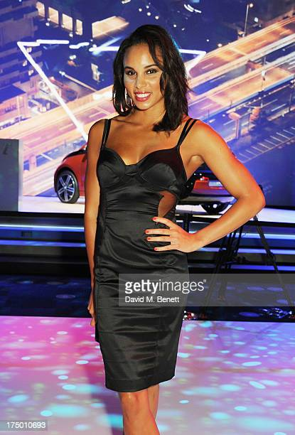 Louise Hazel attends the global reveal of the BMW i3 the luxury car brand's first electric car at The Old Billingsgate on July 29 2013 in London...