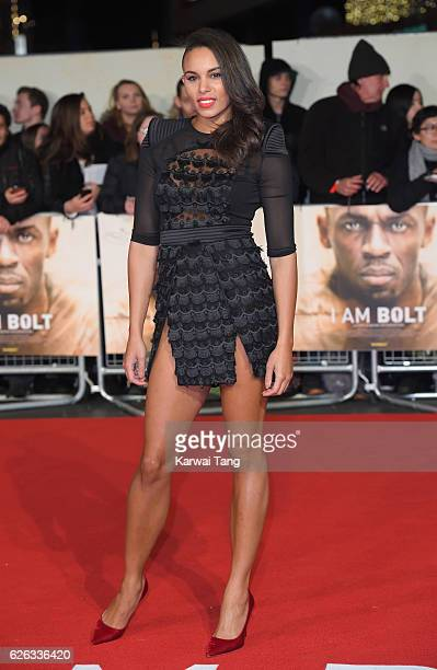 Louise Hazel attends the World Premiere of 'I Am Bolt' at Odeon Leicester Square on November 28 2016 in London England