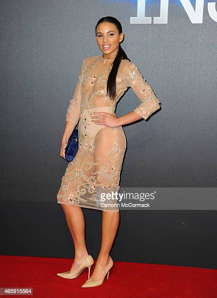 Louise Hazel attends the World Premiere of 'Insurgent' at Odeon Leicester Square on March 11 2015 in London England