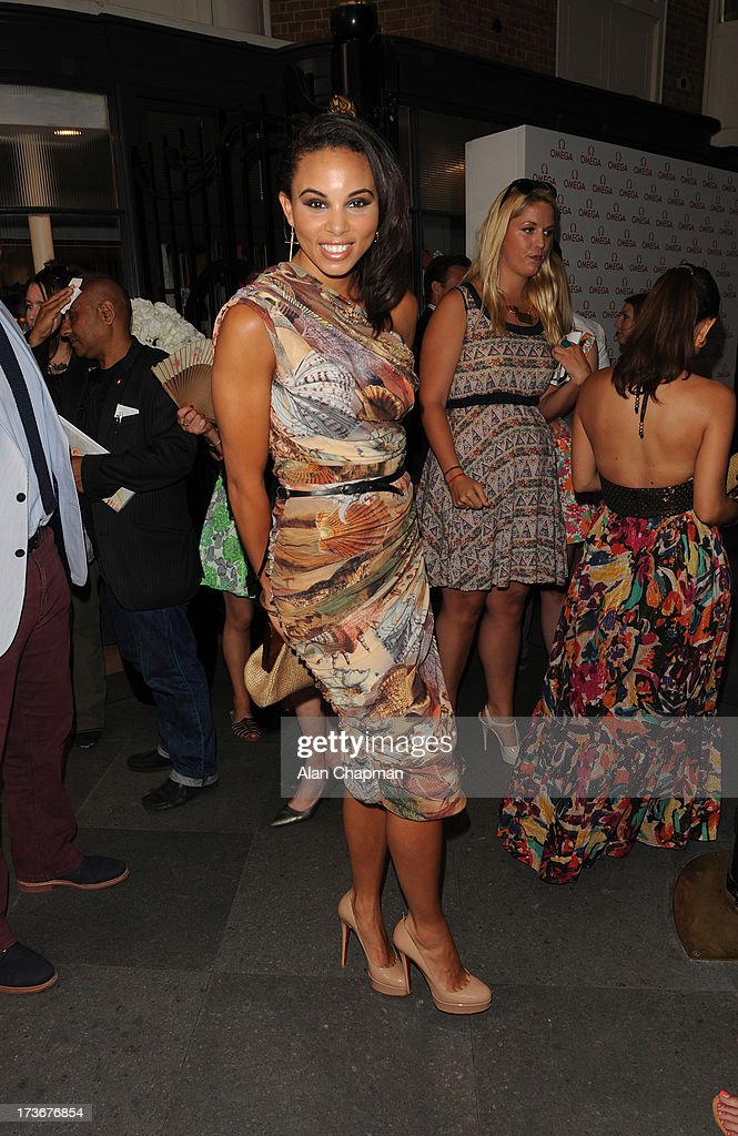 <a gi-track='captionPersonalityLinkClicked' href=/galleries/search?phrase=Louise+Hazel&family=editorial&specificpeople=1424099 ng-click='$event.stopPropagation()'>Louise Hazel</a> sighting at the Omega Summer Party on July 16, 2013 in London, England.
