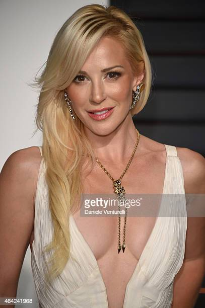 Louise Linton attends 2015 Vanity Fair Oscar Party Hosted By Graydon Carter at Wallis Annenberg Center for the Performing Arts on February 22 2015 in...