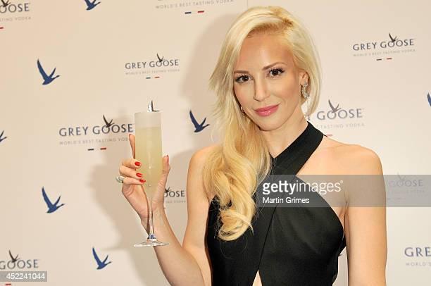 Louise Linton attends GREY GOOSE Le Martini et Vous evening at Devil's Advocate on July 16 2014 in Edinburgh Scotland