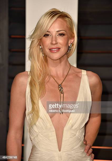 Louise Linton attends the 2015 Vanity Fair Oscar Party hosted by Graydon Carter at Wallis Annenberg Center for the Performing Arts on February 22...