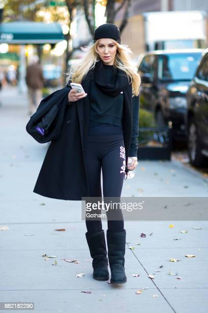 Louise Linton is seen in the Upper East Side on November 29 2017 in New York City