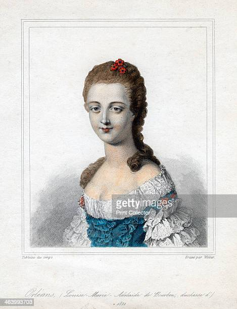 Louise Marie Adelaide de BourbonPenthievre duchesse d'Orleans late 18th century Portrait of the Duchess of Orleans mother of LouisPhilippe King of...