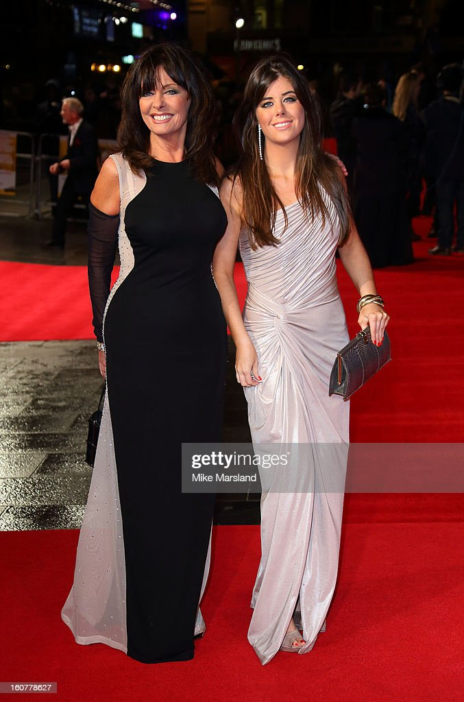 Louise Michelle and Vicki Michelle attend the UK Premiere of 'Run For Your Wife' at Odeon Leicester Square on February 5, 2013 in London, England.