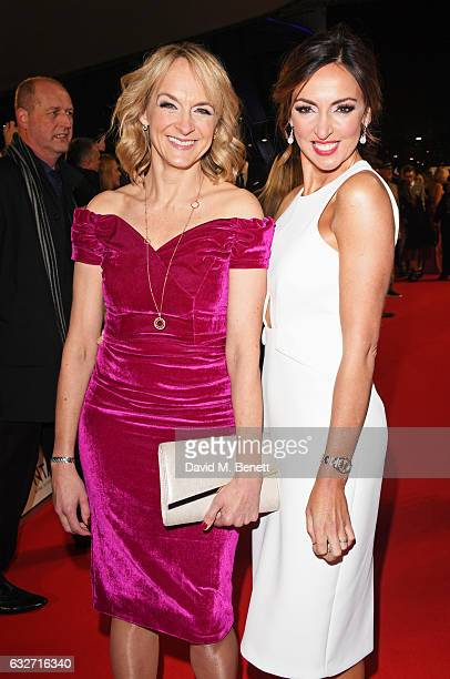 Louise Minchin and Sally Nugent attend the National Television Awards on January 25 2017 in London United Kingdom