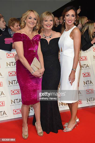 Louise Minchin Carol Kirkwood and Sally Nugent attend the National Television Awards on January 25 2017 in London United Kingdom