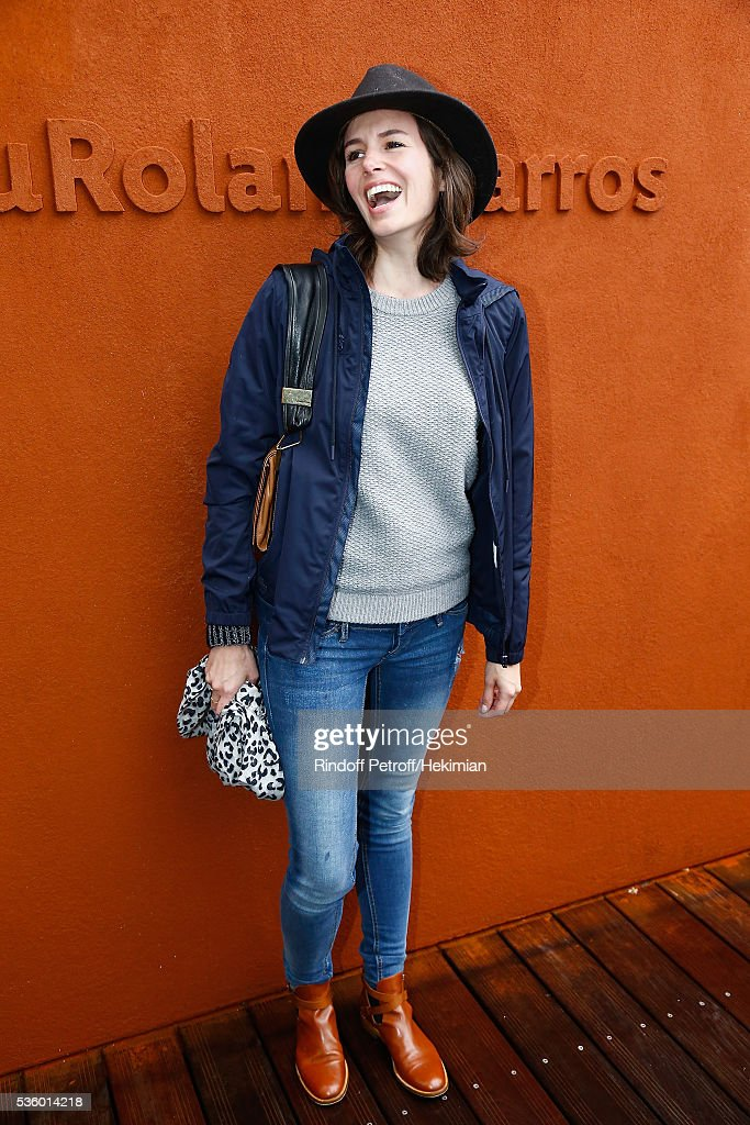 Louise Monot attends day ten of the French Open 2016 at Roland Garros on May 31, 2016 in Paris, France.