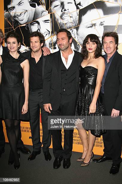 Louise Monot Guillaume Canet Gilles Lelouch Marion Cotillard and Francois Cluzet attend 'Les Petits Mouchoirs' Paris premiere at Cinema UGC Normandie...