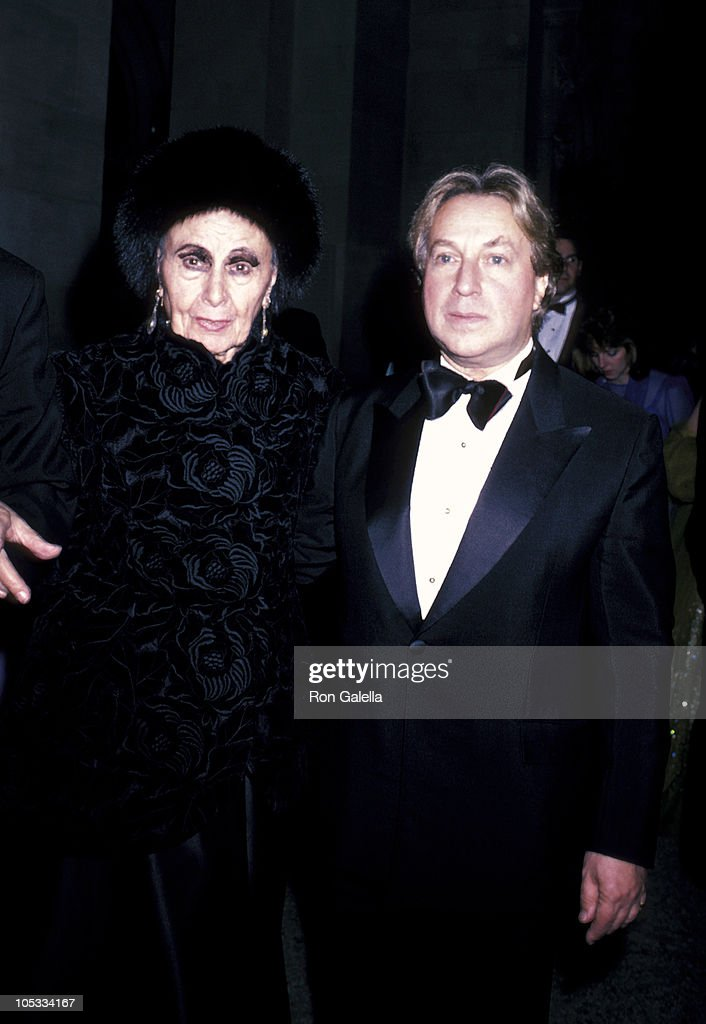 Louise Nevelson and Arnold Scaasi during Diana Vreeland's 14th Annual Costume Exhibit at Metropolitan Museum of Art in New York City New York United...