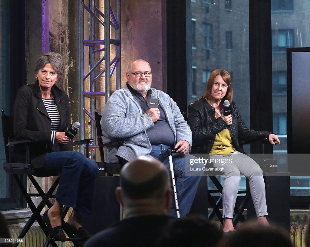 Louise Osmond, Brian Vokes and Jan Vokes attend AOL Build Speaker Series at AOL Studios In New York on May 4, 2016 in New York City.