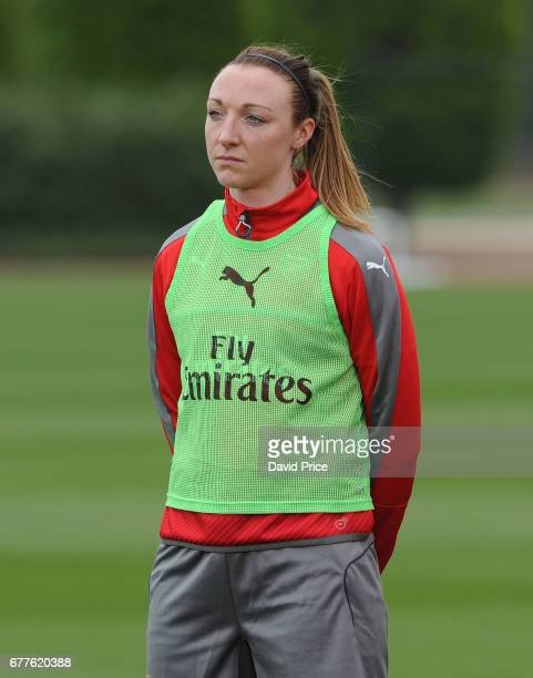 Louise Quinn of Arsenal Ladies during an Arsenal Ladies Training Session at London Colney on May 3 2017 in St Albans England