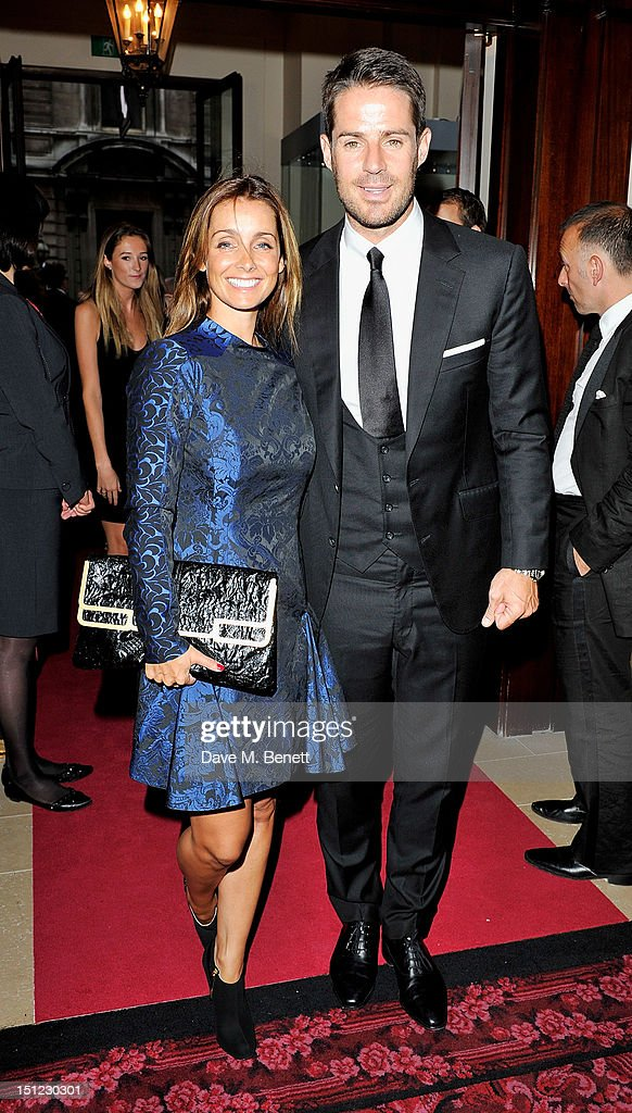 Louise Redknapp (L) and Jamie Redknapp arrive at the GQ Men Of The Year Awards 2012 at The Royal Opera House on September 4, 2012 in London, England.