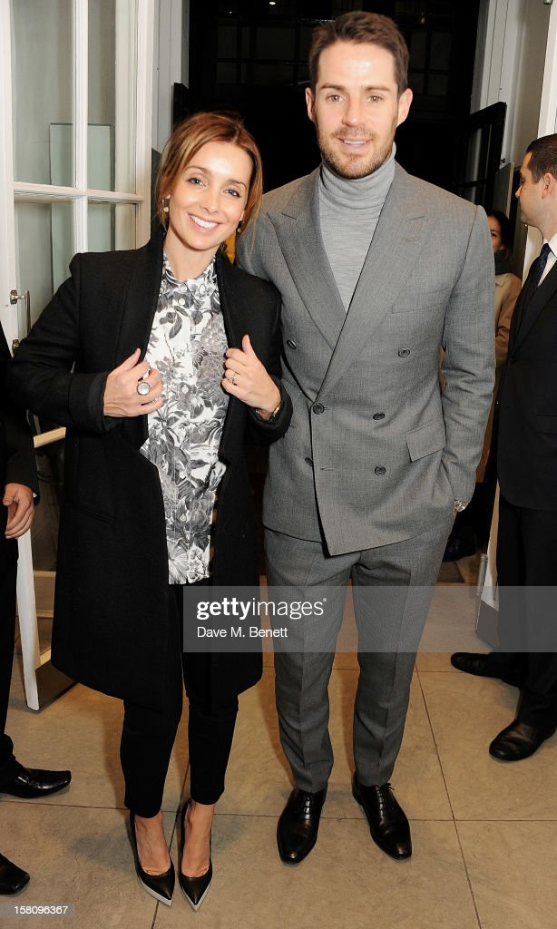 Louise Redknapp and Jamie Redknapp attend the switchingon of the Stella McCartney Bruton Street store Christmas lights on December 10 2012 in London...