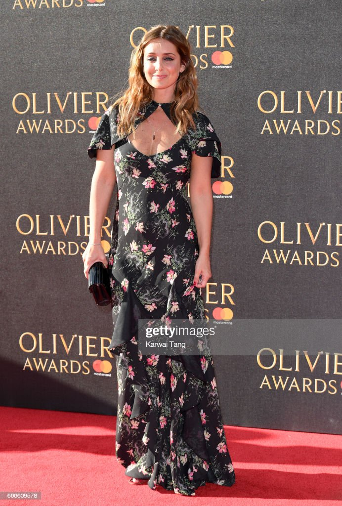 Louise Redknapp arrives for The Olivier Awards 2017 at the Royal Albert Hall on April 9, 2017 in London, England.