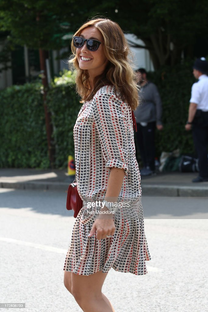 Louise Redknapp seen at Wimbledon on Men's Semi-Final day on July 5, 2013 in London, England.