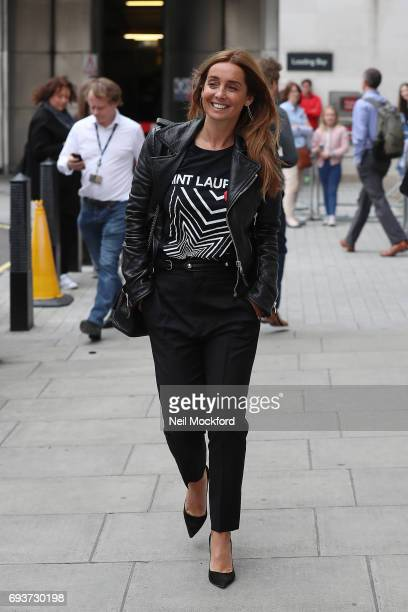 Louise Redknapp seen leaving BBC Radio Studios on June 8 2017 in London England