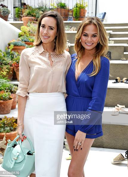 Louise Roe and Chrissy Teigen attend RAYE shoe launch event hosted by Chrissy Teigen and Hillary Kerr held At Ysabel on May 7 2015 in West Hollywood...