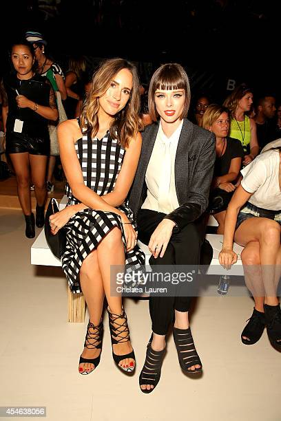 Louise Roe and Coco Rocha attend the Marissa Webb fashion show during MercedesBenz Fashion Week Spring 2015 at The Salon at Lincoln Center on...