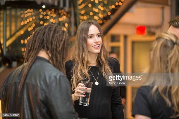 Louise Roe and Franklin Leonard founder of The Black List at Autograph Collection Hotels' exclusive screening of 'Gemini' on September 19 2017 in...